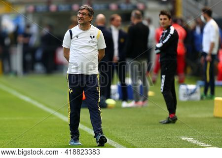 Milano, Italy. 25th April 2021 . Ivan Juric Of Hellas Verona Fc  During The Serie A Match Between Fc