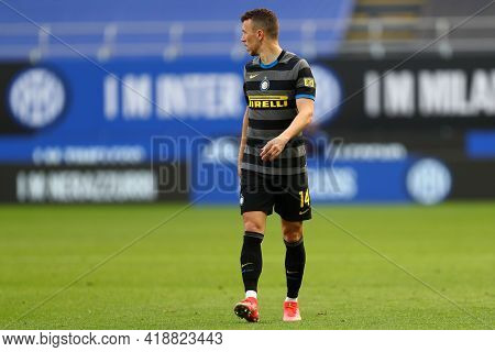Milano, Italy. 25th April 2021 . Ivan Perisic Of Fc Internazionale  During The Serie A Match Between