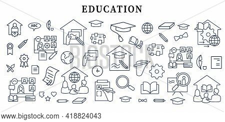 Education Banner Icon. Personal Growth, Professional Development. Template For Landing, Web Page, La