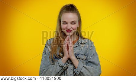 Sneaky Cunning Teen Stylish Girl With Tricky Face Gesticulating And Scheming Evil Plan, Thinking Ove
