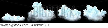 Bundle Of Huge Cumulus Isolated - Digital Nature 3d Illustration