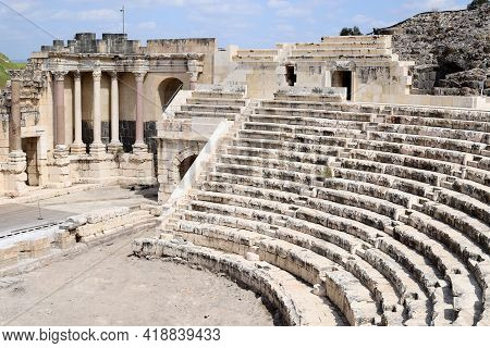 Ruins Of The Ancient City Of Beit She\'an In The Jordan Valley In Northern Israel. In Ancient Times,