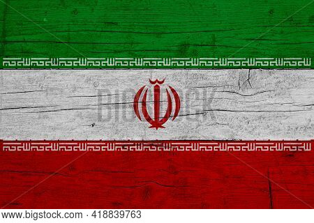 Flag Of Iran Wooden Texture Of The Flag Of Iran.