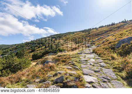 Trail To Labski Szczyt Mountain In Polish Giant Mountains