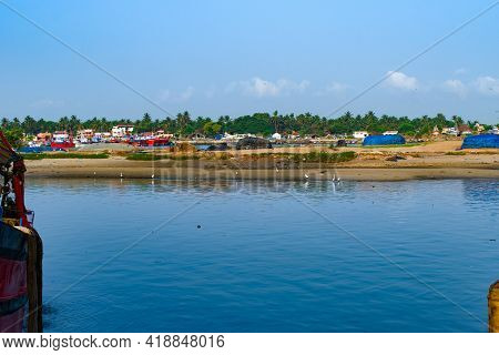 Landscape Shot Of Mangalore Harbour Near Guruputra River.