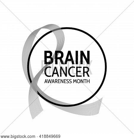 Brain Cancer Awareness Month Banner. Symbol Of The Fight Against Brain Cancer.