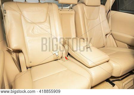 Novosibirsk, Russia - April 25 2021: Lexus Rx, Leather Interior Design, Car Passenger And Driver Sea