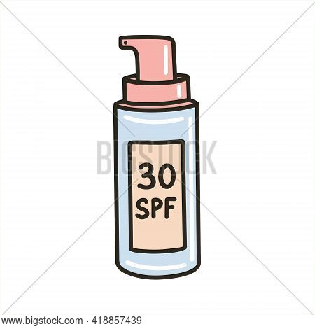 Packaging Of Spf Sunscreen. Sunscreen For The Body