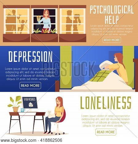 Sad Young Woman In Loneliness, Stress And Depression Need In Psychological Help.