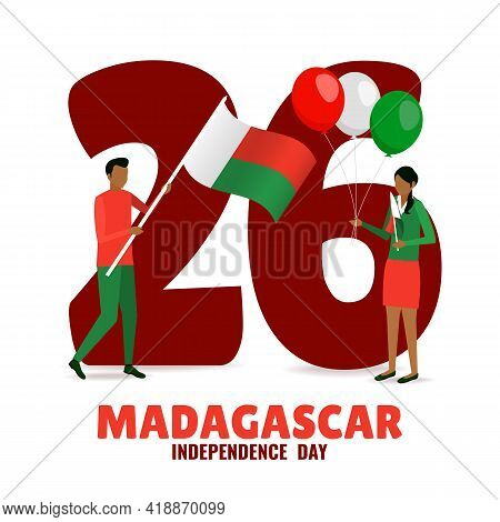 Vector Illustration On The Theme Madagascar Independence Day.