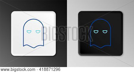 Line Executioner Mask Icon Isolated On Grey Background. Hangman, Torturer, Executor, Tormentor, Butc