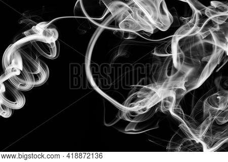 Black And White Smoke Swirl