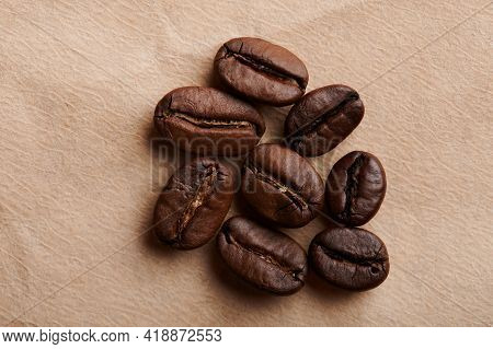 Group Of Roasted Coffee Beans
