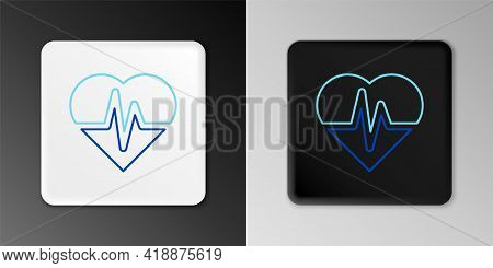 Line Health Insurance Icon Isolated On Grey Background. Patient Protection. Security, Safety, Protec