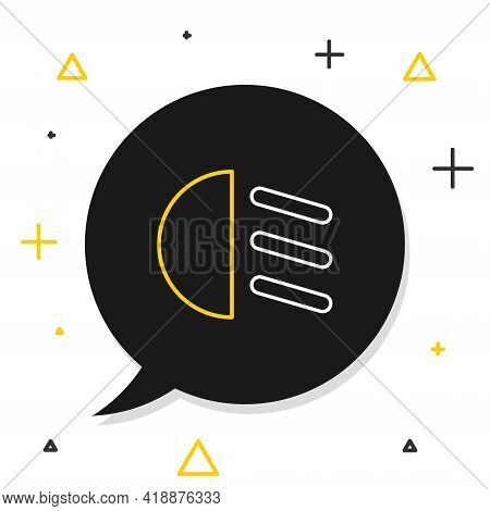 Line High Beam Icon Isolated On White Background. Car Headlight. Colorful Outline Concept. Vector