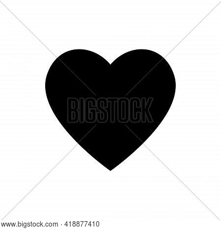 Heart Vector Icon, Love Symbol. Valentine S Day Sign, Emblem Isolated On White Background, Flat Styl