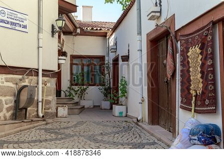 Ankara, Turkey - October 12? 2020: This Is One Of The Cozy Corners Of The Restored Old Ulus District