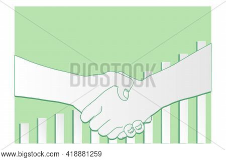 Shake Hand With Investment Background  Shake Hand With Investment Background