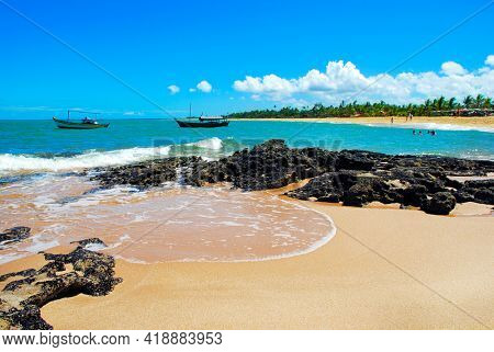 Caraiva is a district of the Brazilian municipality of Porto Seguro, on the coast of the state of Bahia.