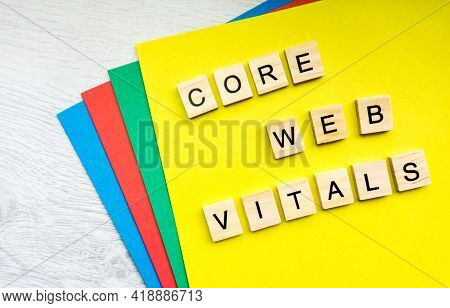 Core Web Vitals Sign Made With Tile Letters