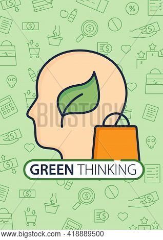 Green Thinking Brochure.conscious Consumption.thinking About Nature Template.flyer, Magazine, Bookle