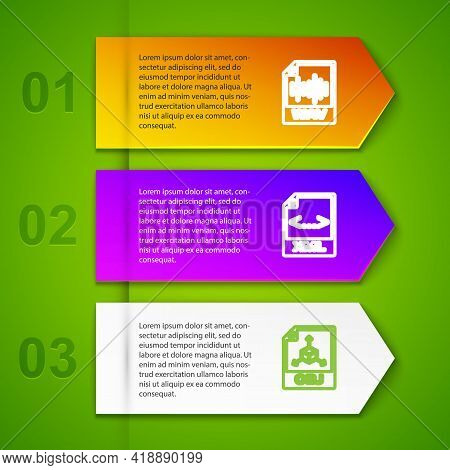 Set Line Wav File Document, Xml, Obj And Doc. Business Infographic Template. Vector