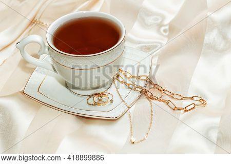 Women's Jewelry Earrings, Trendy Jewelry, Rings On A Saucer, Cup Of Tea. Flatley.