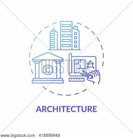 Architecture Concept Icon. Copyright Object Idea Thin Line Illustration. Tangible Object. Architectu