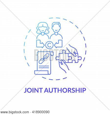 Joint Authorship Concept Icon. Copyright Law Special Rule Idea Thin Line Illustration. Getting Equal