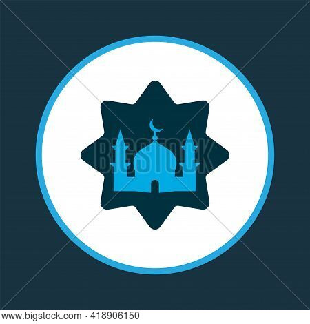 Masjid Icon Colored Symbol. Premium Quality Isolated Mosque Element In Trendy Style.