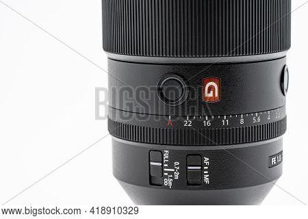 Bangkok, Thailand - 15 Dec 2020, Close Up Sony G-master Lens Fe135mm F1.8 Gm, F1.8, The Telephoto Pr