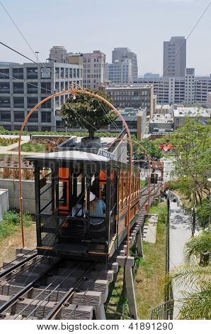 Angels' Flight cable car.