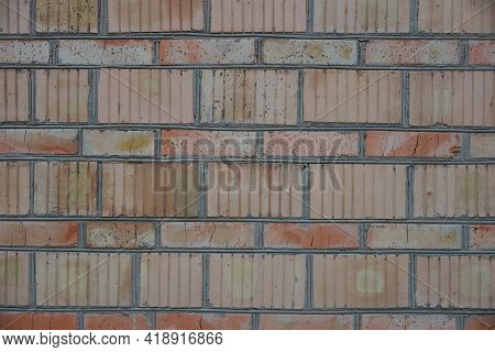 Red Brown Stone Texture Of Bricks In The Old Wall