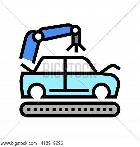 Apply Primer On Car Body Color Icon Vector. Apply Primer On Car Body Sign. Isolated Symbol Illustrat