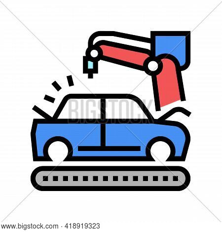 Finishing Painting Car Body Color Icon Vector. Finishing Painting Car Body Sign. Isolated Symbol Ill