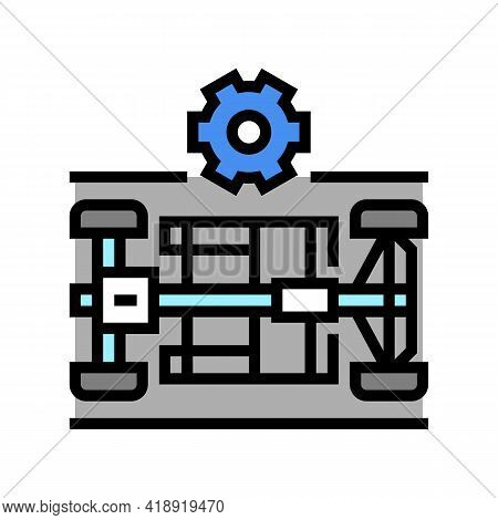 Chassis Selection Car Color Icon Vector. Chassis Selection Car Sign. Isolated Symbol Illustration