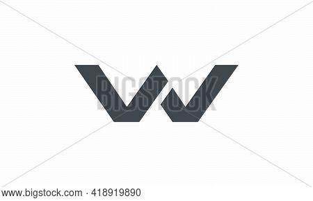 W / V W / W V Letter Lines Logo Design Vector