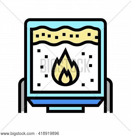 Scalding Cheese Equipment Color Icon Vector. Scalding Cheese Equipment Sign. Isolated Symbol Illustr