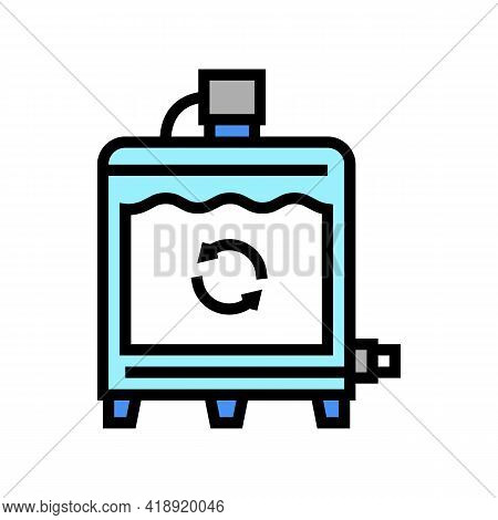 Equipment Preparing Process Cheese Production Color Icon Vector. Equipment Preparing Process Cheese