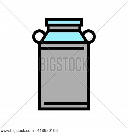 Milk Can Color Icon Vector. Milk Can Sign. Isolated Symbol Illustration