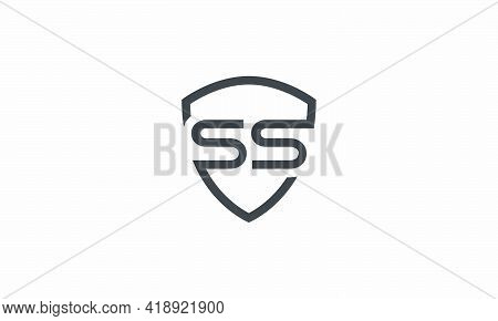 S / S S Letter Logo Security Shield Design Concept