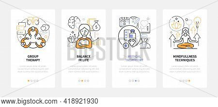 Psychology - Modern Line Design Style Web Banners