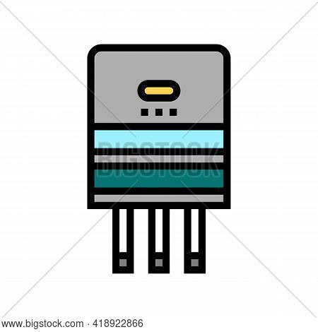 Semiconductor Production Color Icon Vector. Semiconductor Production Sign. Isolated Symbol Illustrat