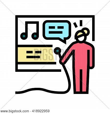 Karaoke Leisure Color Icon Vector. Karaoke Leisure Sign. Isolated Symbol Illustration