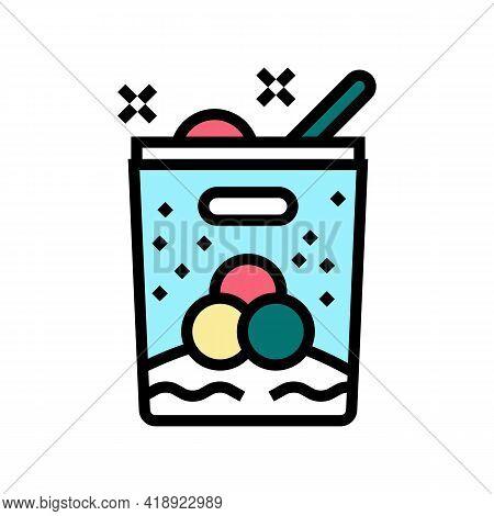 Ice Cream Leisure Color Icon Vector. Ice Cream Leisure Sign. Isolated Symbol Illustration