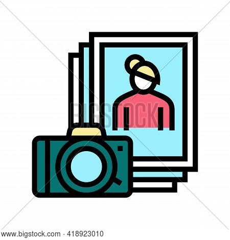 Photo Leisure Color Icon Vector. Photo Leisure Sign. Isolated Symbol Illustration