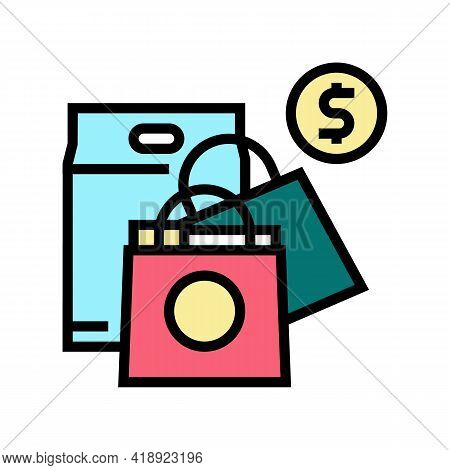 Shopping Leisure Color Icon Vector. Shopping Leisure Sign. Isolated Symbol Illustration