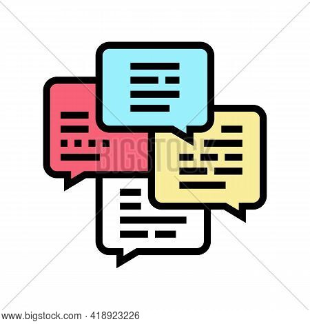 Conversation And Chatting Leisure Color Icon Vector. Conversation And Chatting Leisure Sign. Isolate