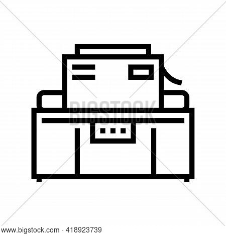 Industrial Machine Cheese Production Line Icon Vector. Industrial Machine Cheese Production Sign. Is