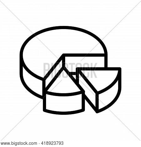 Cooked Cheese Food Dairy Product Line Icon Vector. Cooked Cheese Food Dairy Product Sign. Isolated C